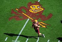 Nov. 28, 2009; Tempe, AZ, USA; Arizona State Sun Devils quarterback (10) Samson Szakacsy drops back to pass in the first quarter against the Arizona Wildcats at Sun Devil Stadium. Mandatory Credit: Mark J. Rebilas-