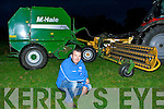 Tony McCarthy Headford Killarney with his invention Mac Attach which leaves him attach his raker to his baler