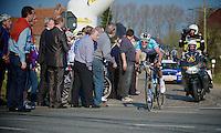 Dwars door Vlaanderen 2012.Niki Terpstra leading
