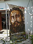 Fidel poster in Cienfuegos artists cooperative