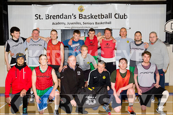 Finalists<br /> St Brendan's Basketball club pictured last Wednesday, January 20th at a training session in Moyderwell, Tralee, where they received kit bags, sponsored by Adams car sales, Tralee, for their up coming Intermediate Final against Leixlip which will be played at the National basketball arena, Tallaght, in Dublin on January 30th.