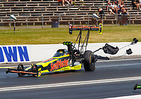 Jun 11, 2017; Englishtown , NJ, USA; NHRA top fuel driver Troy Coughlin Jr during the Summernationals at Old Bridge Township Raceway Park. Mandatory Credit: Mark J. Rebilas-USA TODAY Sports