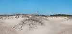 The North Carolina Outer Banks is one of the few undeveloped areas on the coast. This is the Cape Lookout Lighthouse.