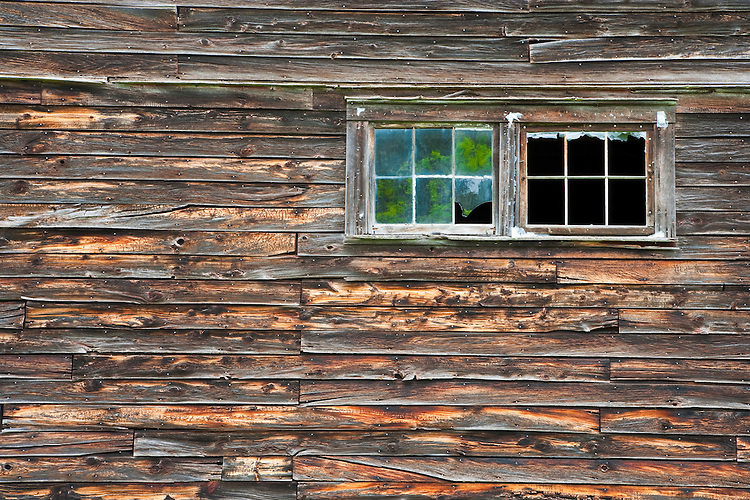 Window and barn wall detail in Sister Bay; Door County, WI