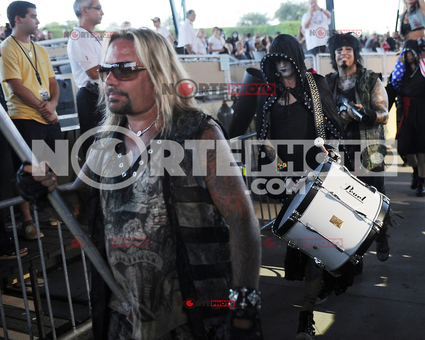 ALBUQUERQUE NM - AUGUST 7:  Vince Neil, Nikki Sixx, Tommy Lee of Motley Crue perform at the Hard Rock Casino Albuquerque on August 7, 2012 in Albuquerque, New Mexico. Credit: MediaPunch Inc.