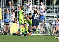 Kansas City, MO - Saturday June 25, 2016:  Shea Groom, Merritt Mathias, Brittany Taylor during a regular season National Women's Soccer League (NWSL) match at Swope Soccer Village.