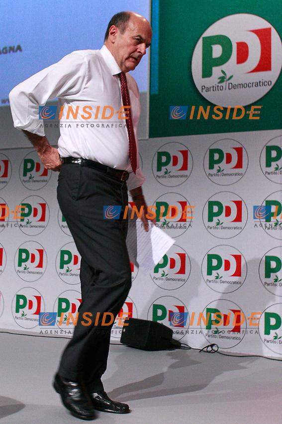 Pierluigi Bersani.Roma 14/07/2012 Assemblea Nazionale del Partito Democratico (PD).National Assembly of the Democratic Party.Photo Samantha Zucchi Insidefoto