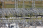 A electrical hub power center below the hydro production by the Table Rock Dam in Branson Missouri