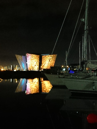 Stunning backdrop of the Titanic in Belfast