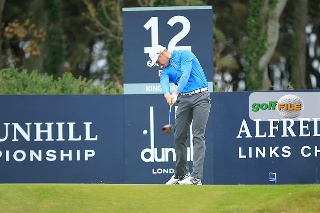 Oliver Fisher (ENG) during Round 2 of the Alfred Dunhill Links Championship at Kingsbarns Golf Club on Friday 27th September 2013.<br /> Picture:  Thos Caffrey / www.golffile.ie