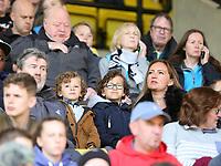 Swansea City fans the Premier League match between Watford and Swansea City at Vicarage Road Stadium, Watford, England, UK. Saturday 15 April 2017