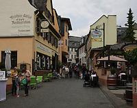 General view of Weinhaus Endlich, Marktstra&szlig;e, R&uuml;desheim am Rhein, Hesse, Germany.<br /> <br /> Allgemeine ansicht des Weinhaus Endlich, Marktstra&szlig;e, R&uuml;desheim am Rhein, Hesse, Deutschland.