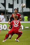 12.08.2018, Commerzbank - Arena, Frankfurt, GER, Supercup, Eintracht Frankfurt vs FC Bayern M&uuml;nchen , <br />DFL REGULATIONS PROHIBIT ANY USE OF PHOTOGRAPHS AS IMAGE SEQUENCES AND/OR QUASI-VIDEO.<br />im Bild<br />Javi Mart&iacute;nez (M&uuml;nchen), Mijat Gacinovic (Frankfurt), Joshua Kimmich (M&uuml;nchen)<br /> <br /> Foto &copy; nordphoto / Bratic