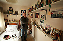 """TO GO WITH SPORTS STORY BY Don McRae. Belfast Boxer Eamonn Magee """"Trophies Room' in mothers home which still contains his boxing trophies on shelves in his old bedroom. 01/05/2018 Photo/Paul McErlane"""