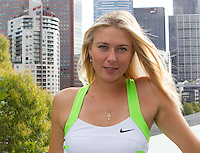 Maria Sharapova at the Nike press launch in Federation Square, Melbourne..12/01/2012, 12th January 2012, 12.01.2012..The Australian Open, Melbourne Park, Melbourne,Victoria, Australia.@AMN IMAGES, Frey, Advantage Media Network, 30, Cleveland Street, London, W1T 4JD .Tel - +44 208 947 0100..email - mfrey@advantagemedianet.com..www.amnimages.photoshelter.com.