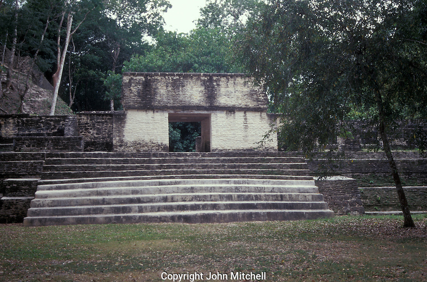 Mayan temple at the ruins of Cahal Pech near the town of San Ignacio, Cayo District, Belize