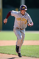 February 21, 2009:  Outfielder Eric Decker (7) of the University of Minnesota during the Big East-Big Ten Challenge at Jack Russell Stadium in Clearwater, FL.  Photo by:  Mike Janes/Four Seam Images