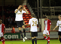 Capital One League Cup, Third Round, Crawley Town (red) V Swansea City (white) , 25/09/12. <br />