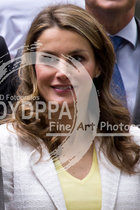 18.06.2013. Student Residence. Madrid. Spain. Princes of Asturias, Felipe and Letizia of Spain, attend Annual Meeting Of Board Of Student Residence. In the image: Princess Letizia. (C) Ivan L. Naughty / DyD Fotografos//