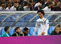 Leroy Sane (Deutschland Germany) nicht glücklich über die Auswechslung - 16.10.2018: Frankreich vs. Deutschland, 4. Spieltag UEFA Nations League, Stade de France, DISCLAIMER: DFB regulations prohibit any use of photographs as image sequences and/or quasi-video.