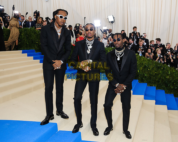 01 May 2017 - Migos. 2017 Metropolitan Museum of Art Costume Institute Benefit Gala at The Metropolitan Museum of Art. <br /> CAP/ADM/CS<br /> &copy;CS/ADM/Capital Pictures