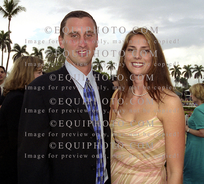 Bobby & Leslie Hurley, thoroughbred owners at Gulfstream Park in Hallandale, Florida on 2/17/01.  Photo by Bill Denver/EQUI-PHOTO.
