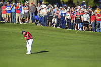 Patrick Reed (Team USA) on the 11th fairway during Saturday afternoon Fourball at the Ryder Cup, Hazeltine National Golf Club, Chaska, Minnesota, USA.  01/10/2016<br /> Picture: Golffile | Fran Caffrey<br /> <br /> <br /> All photo usage must carry mandatory copyright credit (&copy; Golffile | Fran Caffrey)