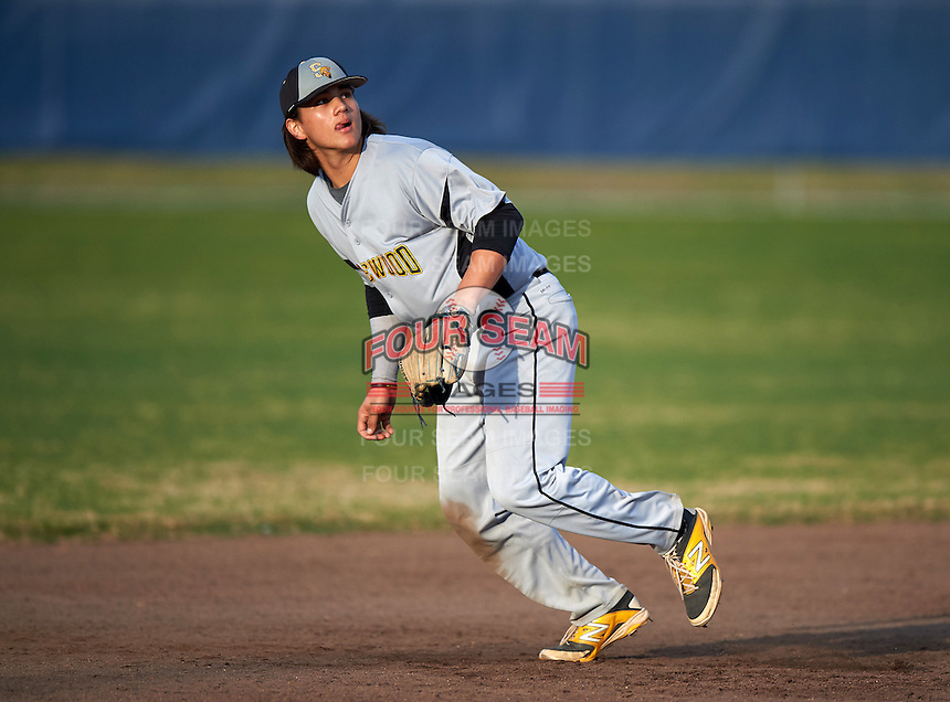 Lakewood Spartans shortstop Bo Bichette (19) during a game against the Boca Ciega Pirates at Boca Ciega High School on March 2, 2016 in St. Petersburg, Florida.  Boca Ciega defeated Lakewood 2-1.  (Mike Janes/Four Seam Images)