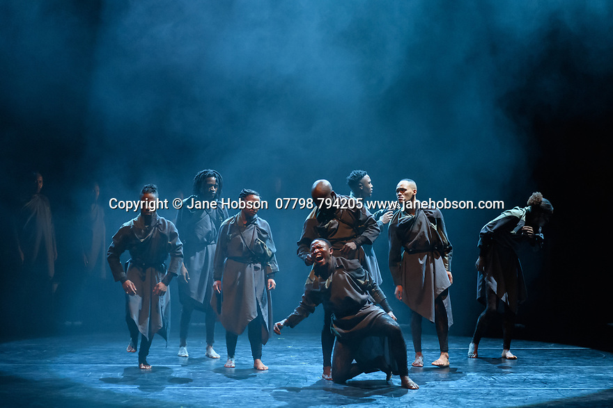 Gregory Maqoma's CION: A Requiem to Ravel's Bolero, part of Dance Umbrella, at the Barbican Theatre, 17 - 19 October 2019. Picture shows: Gregory Maqoma and Vuyani Dance Theatre.