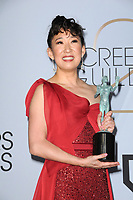 LOS ANGELES - JAN 27:  Sandra Oh at the 25th Annual Screen Actors Guild Awards at the Shrine Auditorium on January 27, 2019 in Los Angeles, CA