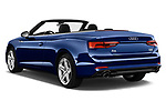 Car pictures of rear three quarter view of a 2017 Audi A5 Sport 2 Door Convertible angular rear