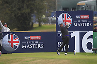 Shane Lowry (IRL) on the 16th tee during Round 1of the Sky Sports British Masters at Walton Heath Golf Club in Tadworth, Surrey, England on Thursday 11th Oct 2018.<br /> Picture:  Thos Caffrey | Golffile<br /> <br /> All photo usage must carry mandatory copyright credit (© Golffile | Thos Caffrey)