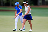 Caterina Don (ITA) and Haylee Harford (USA) during the final  round at the Augusta National Womans Amateur 2019, Augusta National, Augusta, Georgia, USA. 06/04/2019.<br /> Picture Fran Caffrey / Golffile.ie<br /> <br /> All photo usage must carry mandatory copyright credit (© Golffile | Fran Caffrey)