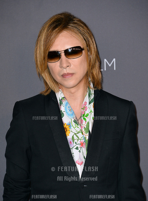 Yoshiki at the 2017 LACMA Art+Film Gala at the Los Angeles County Museum of Art, Los Angeles, USA 04 Nov. 2017<br /> Picture: Paul Smith/Featureflash/SilverHub 0208 004 5359 sales@silverhubmedia.com