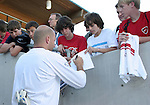 U.S. backup goalkeeper Matt Reis signs an autograph on Tuesday, April 11th, 2006 at SAS Stadium in Cary, North Carolina. The United States Men's National Team tied Jamaica 1-1 in a men's international friendly.