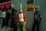 White Rastafarian. Black community Notting Hill west London 1970s or 1980s England UK