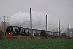 29th October 2016.  Greatford,  Lincolnshire. Duchess of Sutherland steaming through the Lincolnshire countryside. Jonathan Clarke/Alamy Live News