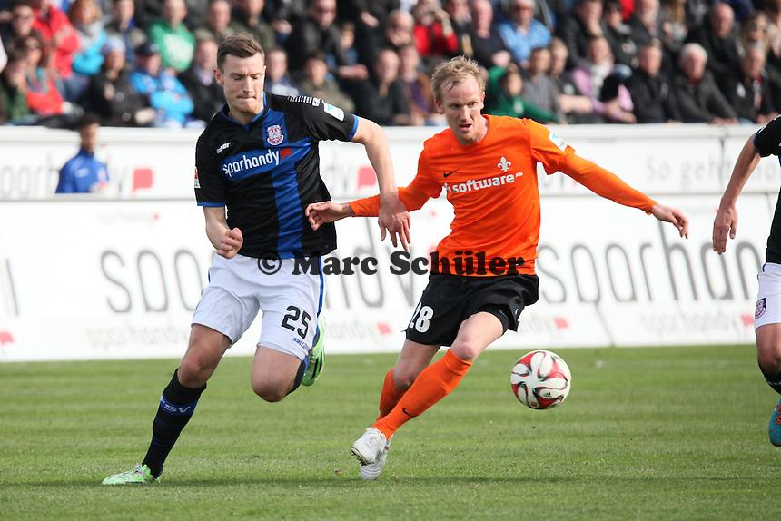 Florian Ballas (FSV) gegen Jan Rosenthal (SV98) - FSV Frankfurt vs. SV Darmstadt 98, Frankfurter Volksbank Stadion