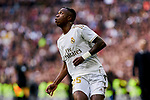 Vinicius Junior of Real Madrid during La Liga match between Real Madrid and Atletico de Madrid at Santiago Bernabeu Stadium in Madrid, Spain. February 01, 2020. (ALTERPHOTOS/A. Perez Meca)