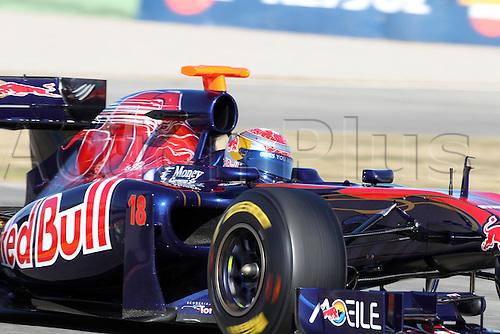 02.02.2011 formula 1 Team Testing in Valencia Spain. Picture shows Sebastien Buemi, Toro Rosso.