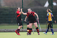 Havering celebrate a goa Upminster HC Ladies 3rd XI vs Havering HC 2nd XI, Essex Women's League Field Hockey at the Coopers Company and Coborn School on 10th March 2018