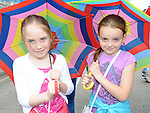 Hannah Moran and Zoe Gardiner pictured at the samba festival. Photo: Colin Bell/pressphotos.ie