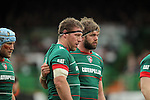 Brad Thorn (left) and Geoff Parling of Leicester Tigers - Aviva Premiership - Leicester Tigers vs Sale Sharks - Season 2014/15 - 28th February 2015 - Photo Malcolm Couzens/Sportimage