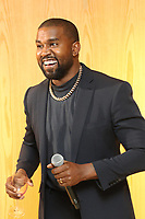 "NEW YORK, NY - NOVEMBER 6, 2019 Kanye West attends his ""Follow God"" music video presentation at the Burberry Store, November 6, 2019 in New York City. <br /> CAP/MPIWG<br /> ©WG/MPI/Capital Pictures"