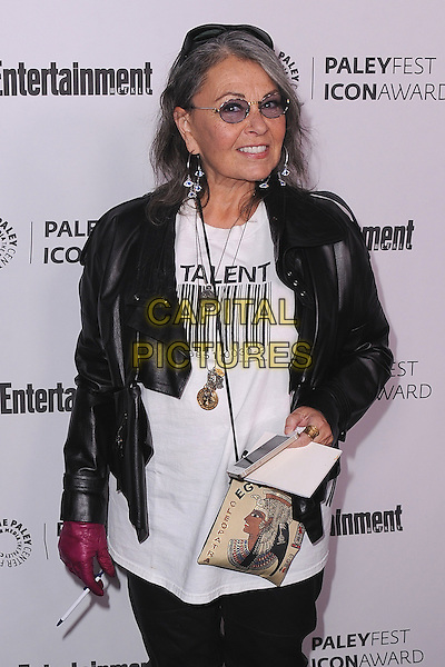 BEVERLY HILLS, CA - MARCH 10:   Roseanne Barr arrives at the 2014 PaleyFest Icon Award to Judd Apatow at the Paley Center for the Media on March 10, 2014 in Beverly Hills, California. <br /> CAP/MPI/213<br /> &copy;MPI213/MediaPunch/Capital Pictures