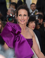 Andie MacDowell at the premiere for &quot;The Meyerowitz Stories&quot; at the 70th Festival de Cannes, Cannes, France. 21 May  2017<br /> Picture: Paul Smith/Featureflash/SilverHub 0208 004 5359 sales@silverhubmedia.com