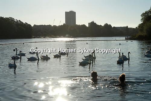Serpentine Lido Hyde Park Lake, London Uk.