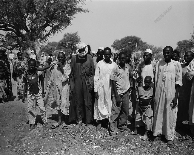 Chadian displaced persons who have fled an attack by militia and rebels, UNHRC?s Habile Camp, south eastern Chad near Sudan border, April 2007