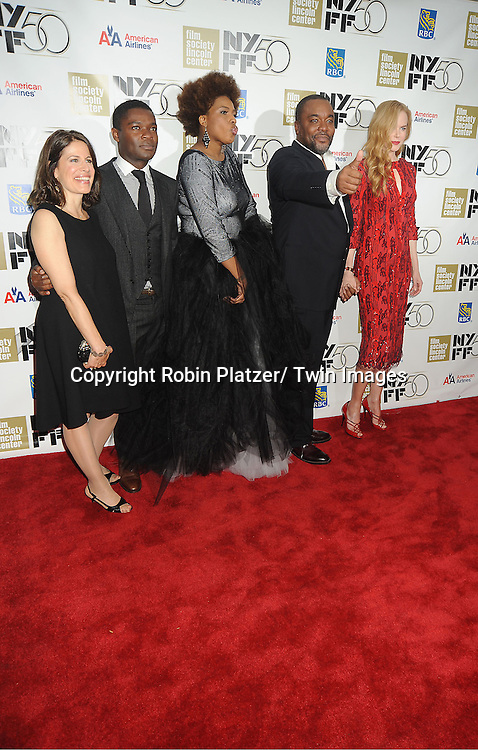 """Naella Gordon, David Oyelowo, Macy Gray, Lee Daniels and Nicole Kidman attend the Film Society of Lincoln Center Gala Tribute to Nicole Kidman and the US Premiere of """"The Paperboy"""" at the 2012 New York Film Festival  on October 3, 2012 at Alice Tully Hall in New York City. The movie stars Nicole Kidman, Macy Gray, David Oyelowo and Naella Gordon and was directed by Lee Daniels."""