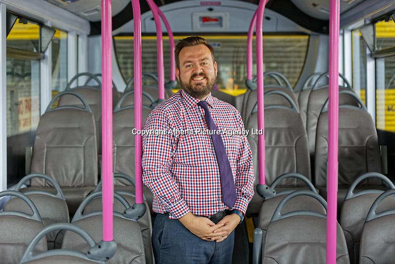 First Cymru Managing Director Andrew Sherrington at the Ravenhill depot in Swansea, Wales, UK. Friday 01 June 2018